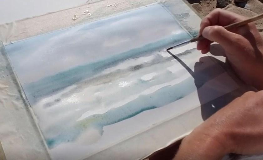 Comment peindre l'écume sur les vagues