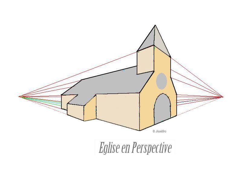 Comment Dessiner Une Eglise En Perspective Apprenez A Dessiner Com