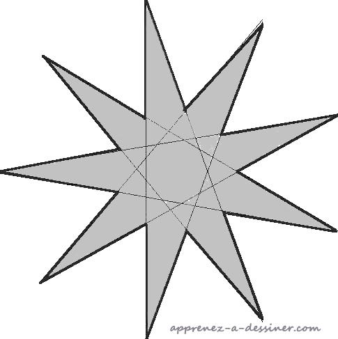 Comment Tracer Une étoile à Neuf Branches Apprenez A