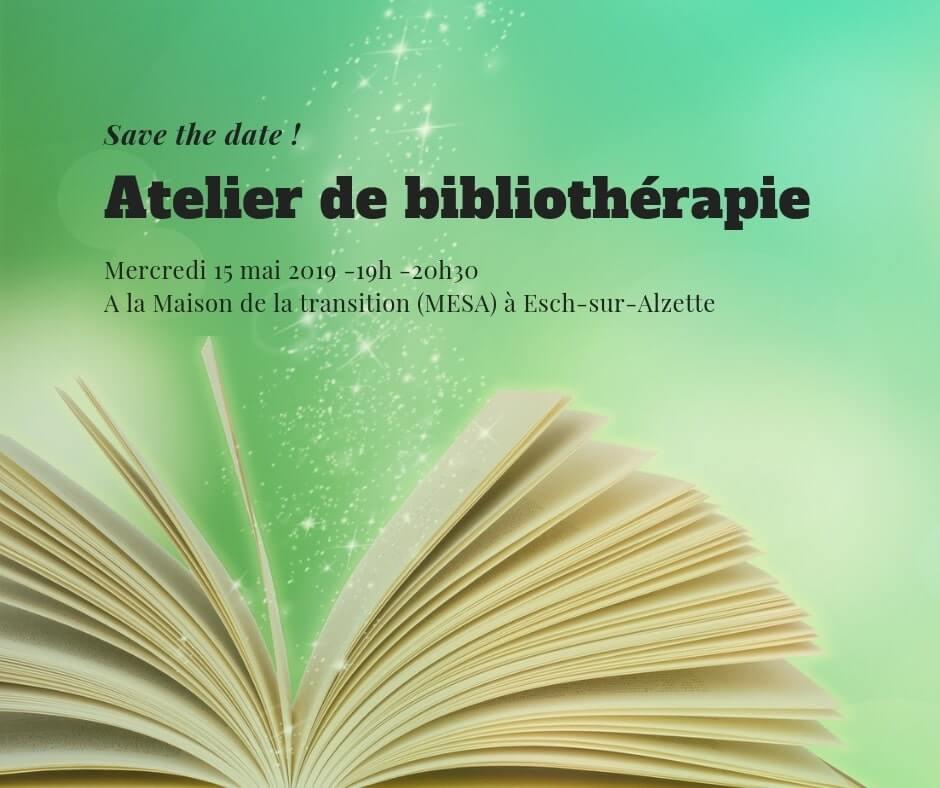 Atelier de biblliothérapie - 15 mai 2019 - Esch sur Alzette