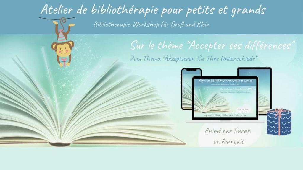 """Affiche - Atelier de bibliothérapie """"accepter ses différences"""""""