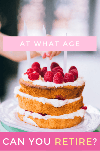 Birthday treat depicting what age is right for retirement