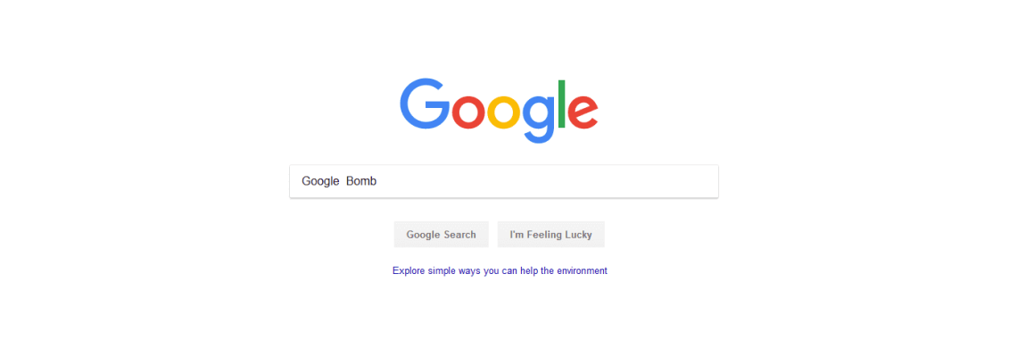 A Google search for the phrase Google Bomb.