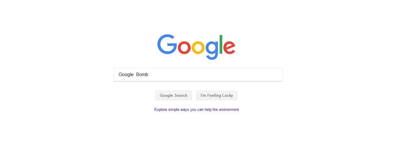 A Google search for the phrase Google Bomb.