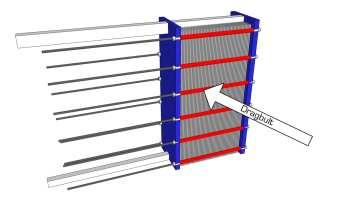 Värmeväxlare med dragbultar i material 42CrMo4