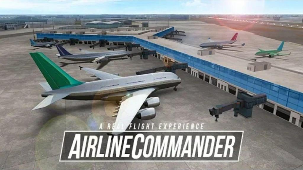 تنزيل لعبة الطائرات محاكاة Airline Commander مهكرة للاندرويد