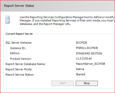 SCCM 2012 R2 - Move reporting services db to another volume on same