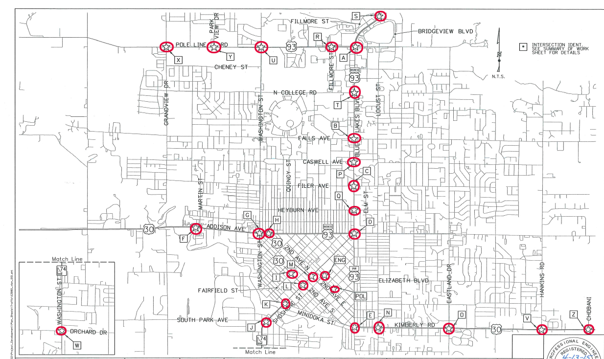 Traffic signal upgrades begin in Twin Falls along U.S. and