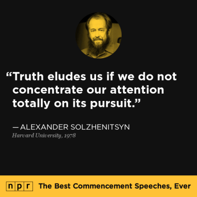 Alexander Solzhenitsyn at Harvard University, June 8, 1978 ...