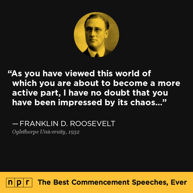 Franklin D Roosevelt at Oglethorpe University May 22