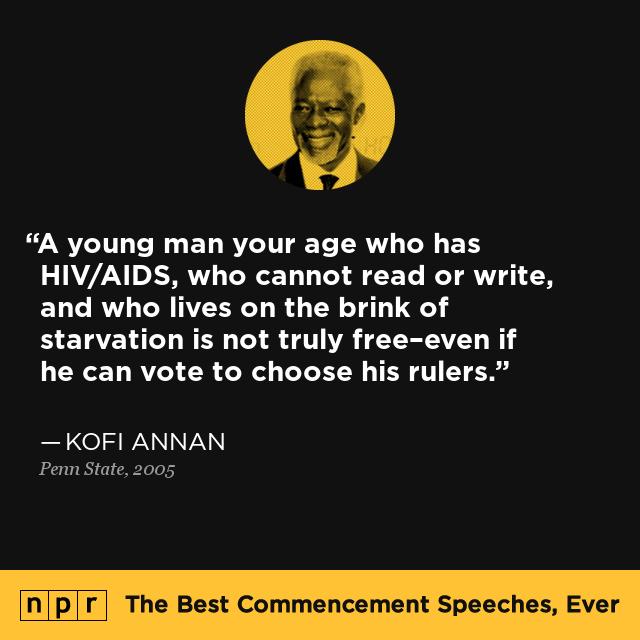 Kofi Annan At Penn State 2005 The Best Commencement