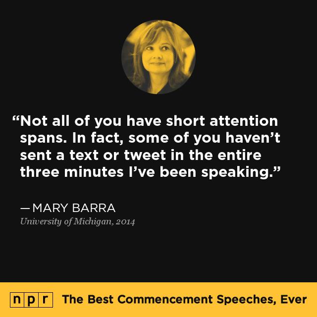 Mary Barra at University of Michigan May 3 2014  The