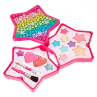 Rainbow Bedazzled Star Make Up Set