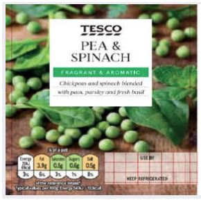 Tesco Pea and Spinach Dip