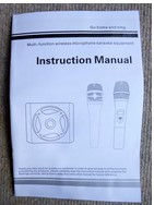 Wireless microphone karaoke equipment (instruction manual)