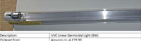 UV Germicidal Lamp with Ozone Bulb 2