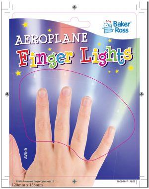 Aeroplane Finger lights packaging