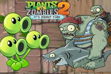 Прохождение Plants vs. Zombies 2: Египет, Пираты, Дикий запад