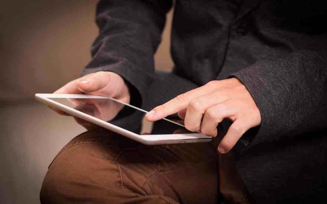 holding tablet mobile app