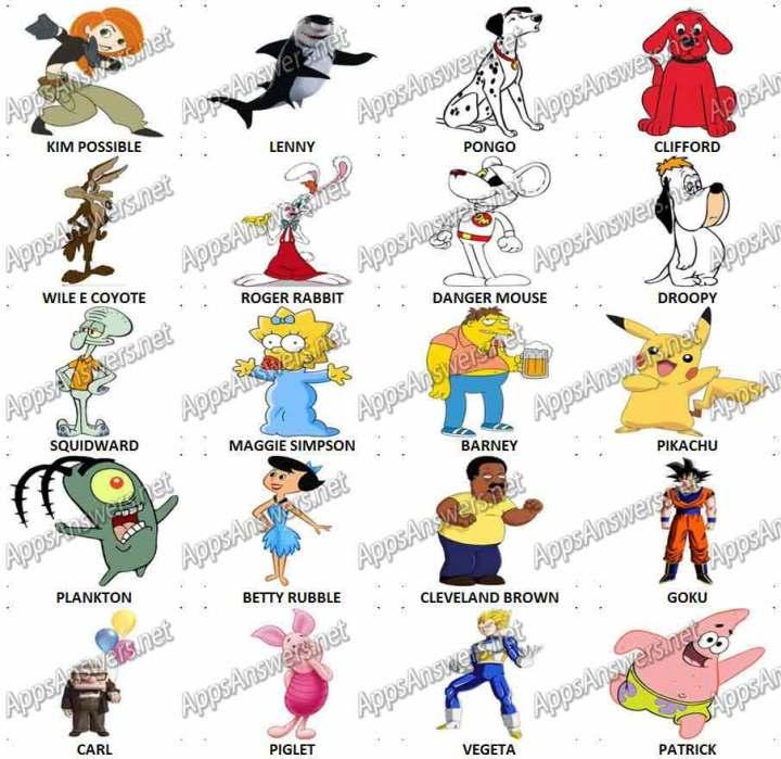 Same Name as a Cartoon Character Quiz - Sporcle