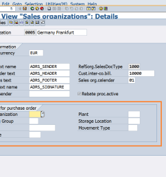 maintain the purchase order information at sales organization level in sap [ 996 x 805 Pixel ]