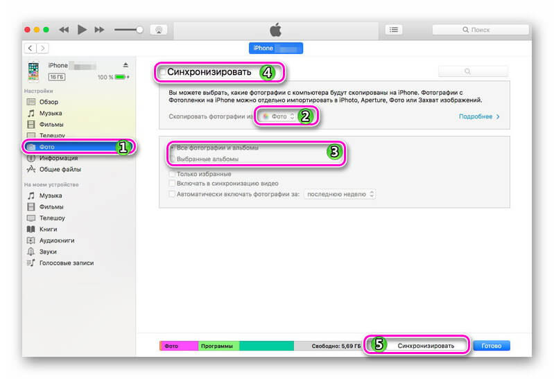 Larawan ng pag-synchronize sa iTunes2.