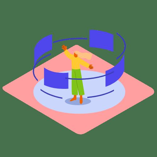 Information carousel_Isometric