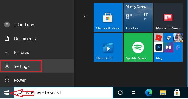 configuration de Windows 10