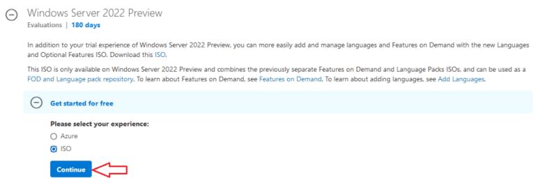 Télécharger Windows Server 2022 (ISO, Azure)