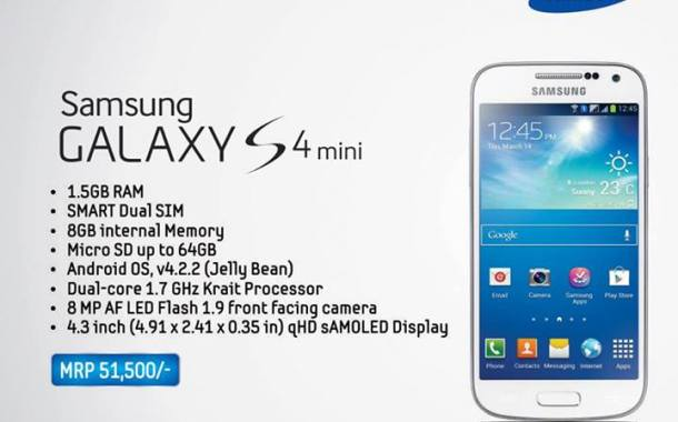Specifications and price of Galaxy S4 Mini in Nepal