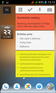 Google Keep Colours