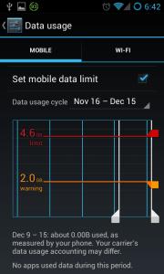 set limit on mobile data usage