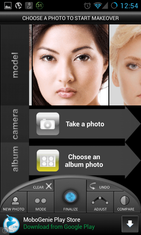 Change your eye color with Eye Color Studio for Android