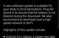 Moto G starts getting Lollipop update in India