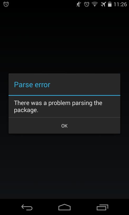 problem parsing