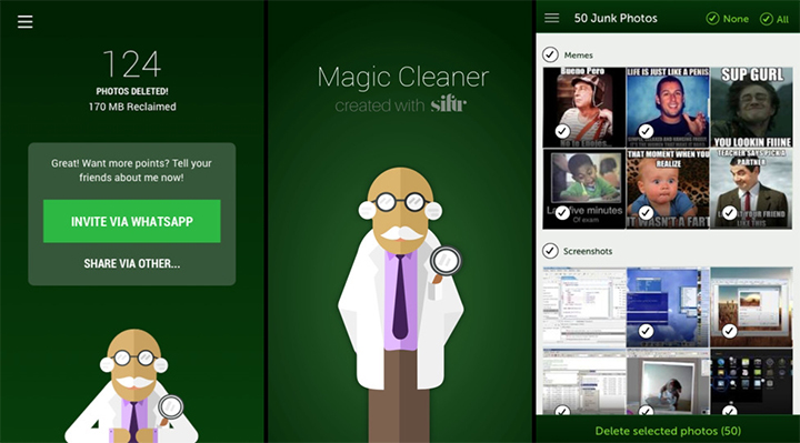 Magic Cleaner - Delete WhatsApp Photos