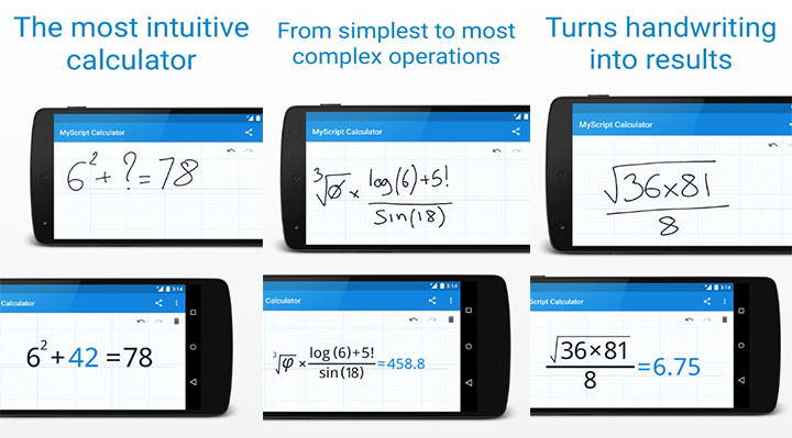 MyScript Calculator - Solve math problems