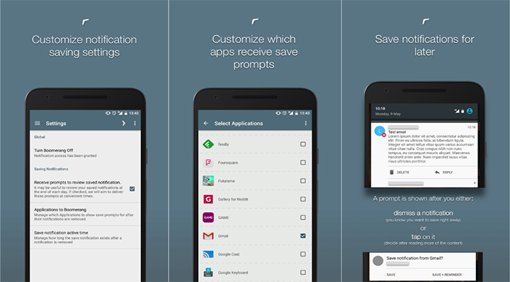 boomerang notifications 2 - Snooze Android notifications