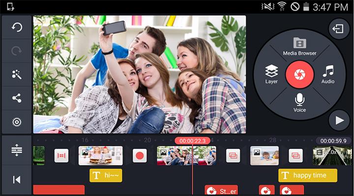 KineMaster1 - create videos on Android