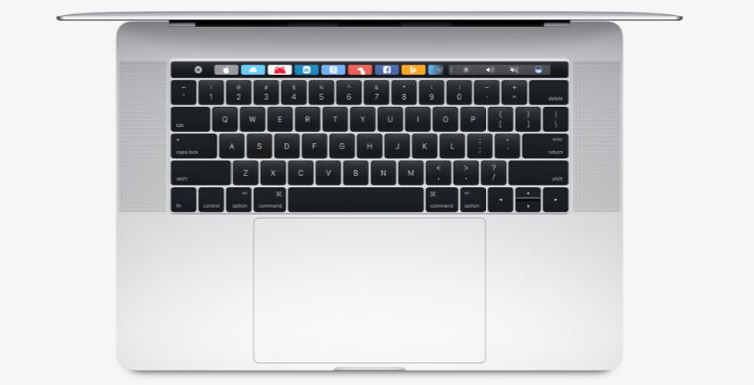 keyboard and  trackpad of macbook pro