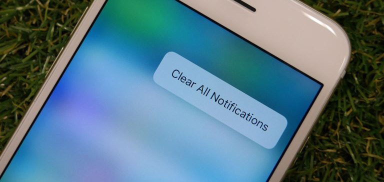 Clear All Notifications on iPhone