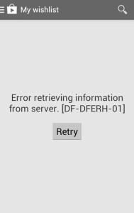 DF-DFERH-01 Google Play Store error