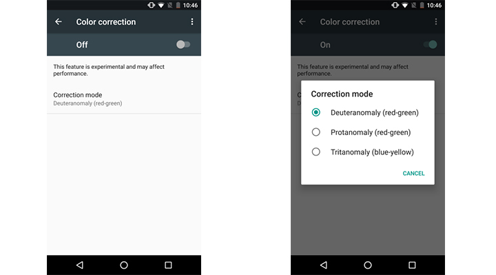 screen-filters-android - enable screen filters for Color Blindness in Android