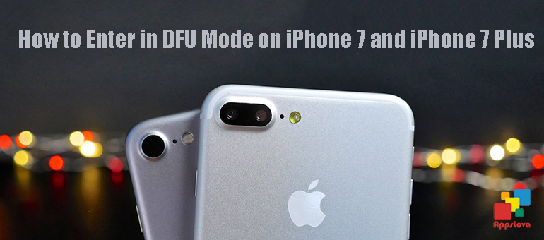 Enter in DFU Mode on iPhone 7 and iPhone 7 Plus