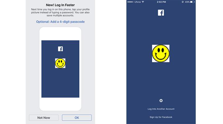 App login facebook