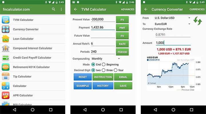 Useful apps for android - financialcalculators
