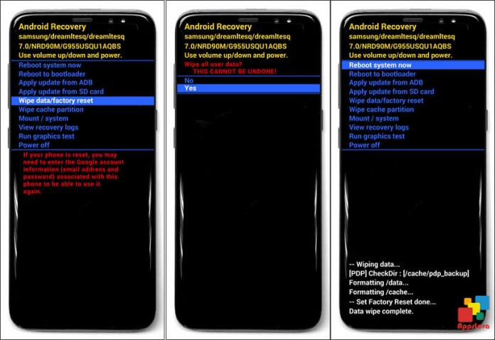 Recovery Mode of Galaxy S8