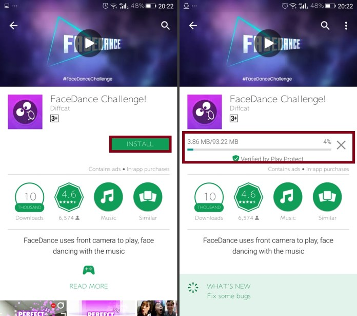 FaceDance Challenge - Install