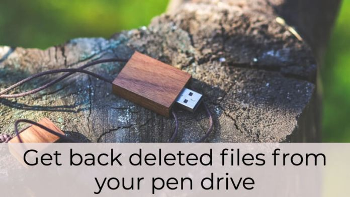 How to Restore Deleted Content from Pen Drive using an App