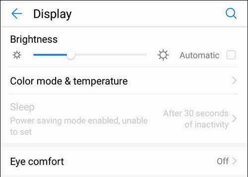 Screen Timeout Option is Grayed Out in Huawei